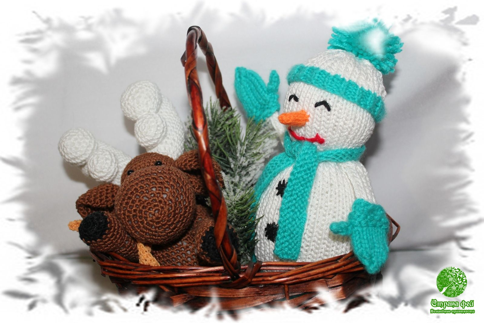 Снеговик и лось
