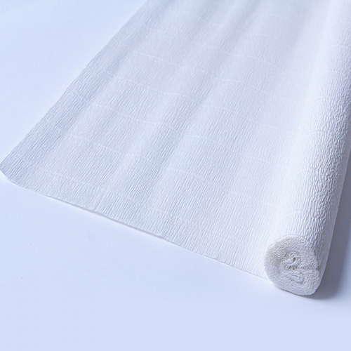 Гофрированная бумага белого цвета