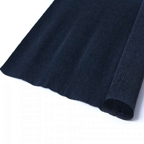 Гофрированная бумага чёрного цвета