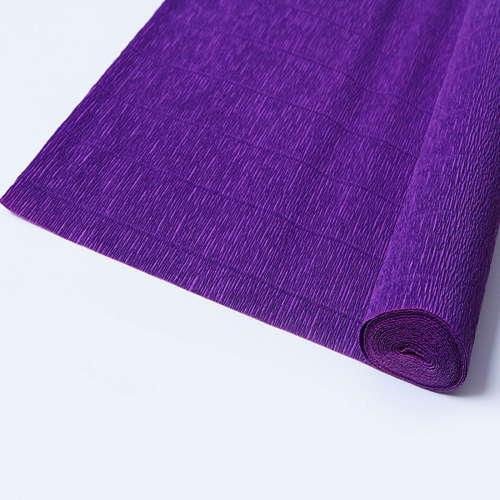 Гофрированная бумага фиолетового цвета