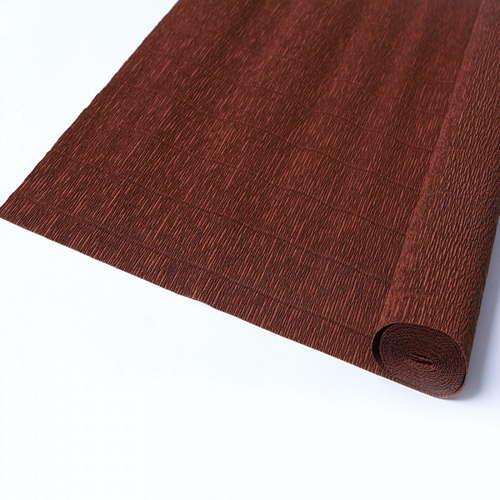 Гофрированная бумага коричневого цвета