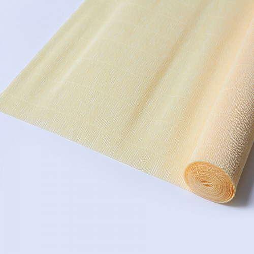 Гофрированная бумага лимонно-кремовая