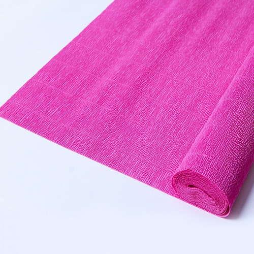 Гофрированная бумага малинового цвета