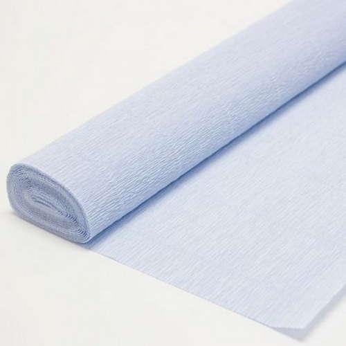 Гофрированная бумага нежно-голубая