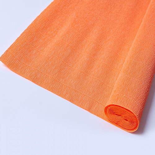 Гофрированная бумага оранжевая