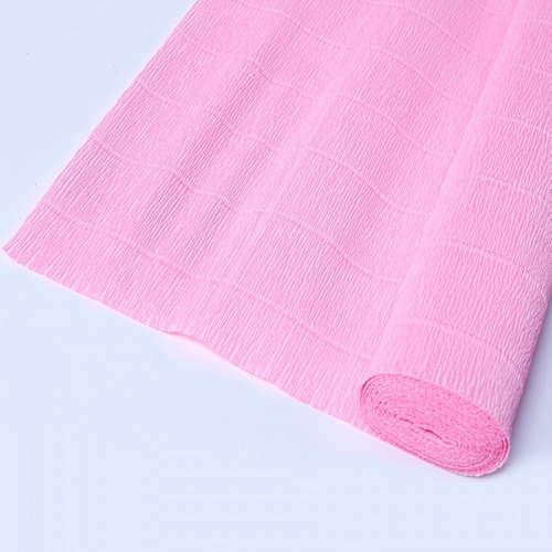 Гофрированная бумага розового цвета