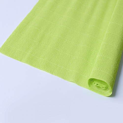Гофрированная бумага салатового цвета