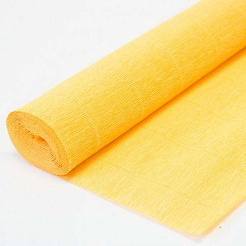 Гофрированная бумага светло-оранжевая
