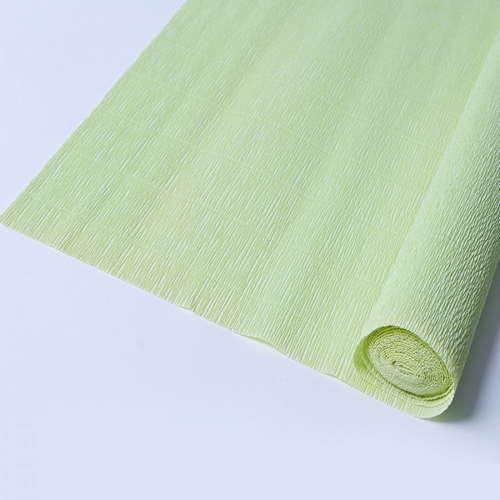 Гофрированная бумага светло-салатового цвета