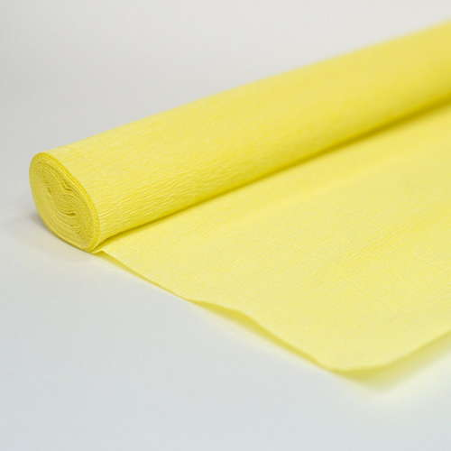 Гофрированная бумага светло-жёлтая