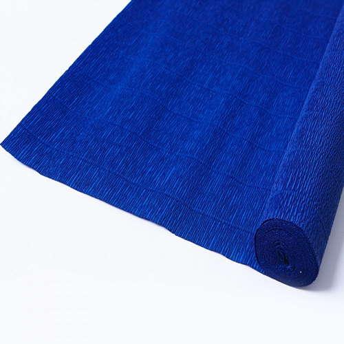 Гофрированная бумага тёмно-синяя