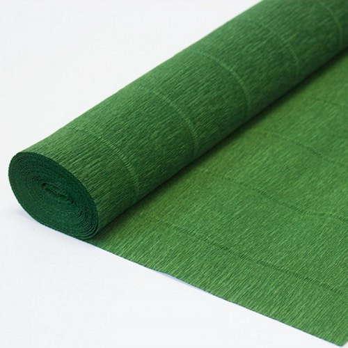 Гофрированная бумага тёмно-зелёная