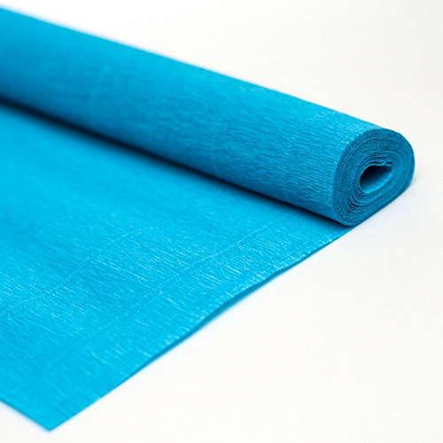 Гофрированная бумага василькового цвета