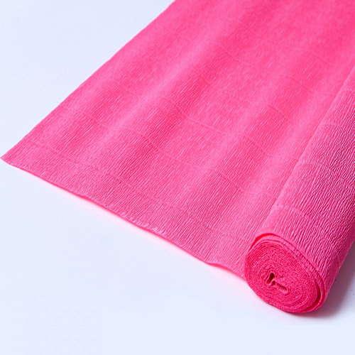 Гофрированная бумага ярко-розовая