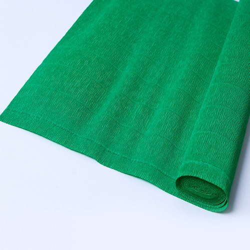 Гофрированная бумага зелёная
